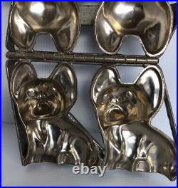 Vintage CHOCOLATE MOLD DOG Little Puppy VINTAGE ANTIQUE 7 1/2x5