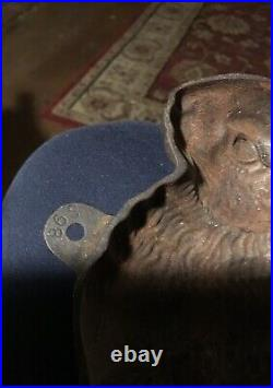 Vintage Cast Iron Rabbit Mold Easter Chocolate Bunny Cake Pan Door Stop