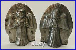 Vintage Child Angel Chocolate Mold, Metal Antique Christmas Easter