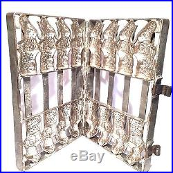 Vintage Industrial Professional 8 Bunny Rabbit Figure Chocolate Mold Easter