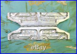 Vintage Metal Chocolate Mold Double Antique Cars Germany Rare 1930's