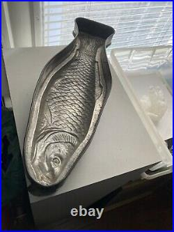 Vintage Tin French Fish Chocolate Jelly Aspic Mold