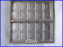 Vintage Wilbur Suchard Chocolate Candy 6-Bar Mold Confectioners Tool Tray Pan A
