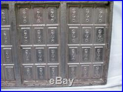 Vintage Wilbur Suchard Chocolate Candy 6-Bar Mold Confectioners Tool Tray Pan B