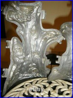 Vintage antique ice Pewter. Mold cream Banquet rare chocolate mold