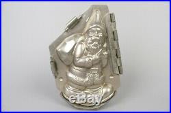 Vintage santa claus with bag chocolate tin mold, german antique #1