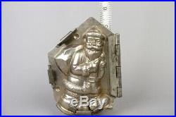 Vintage santa claus with bag chocolate tin mold, german antique #2