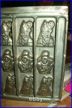 Vormenfabriek Antique Vintage Black Peter & St. Nicholas Santa Chocolate Mold