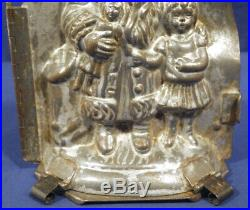 Vtg Antique German Chocolate Mold Father Christmas Santa with Girl Heris Nr 180