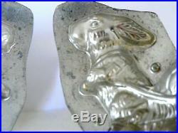 WEYGANDT 192 BUNNY RABBIT EGG CART 6.5 Easter CHOCOLATE MOLD ANTIQUE VINTAGE
