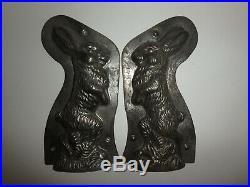 XRARE Antike Schokoladenform GEHENDER HASE antique chocolate mold BUNNY # 24094