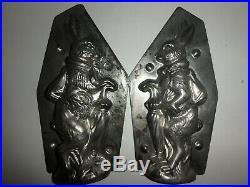 XRARE Antike Schokoladenform HASE & SCHIRM antique chocolate mold WALTER # 4618