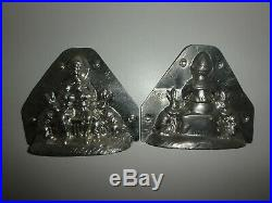 XRARE Antike Schokoladenform JUNGE & HASENFAMILIE antique chocolate mold BUNNY