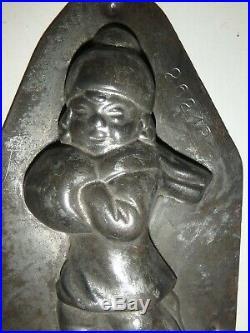 XRARE Antike Schokoladenform MÄDCHEN antique chocolate mold ANTON REICHE # 26218