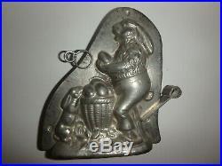 XRARE Antike Schokoladenform MR. BUNNY&BABY antique chocolate mold KUTZSCHER13090
